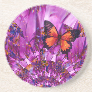 Crazy Butterfly Beverage Coasters