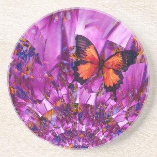 Crazy Butterfly Sandstone Coaster