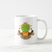 crazy cactus lady banner coffee mug