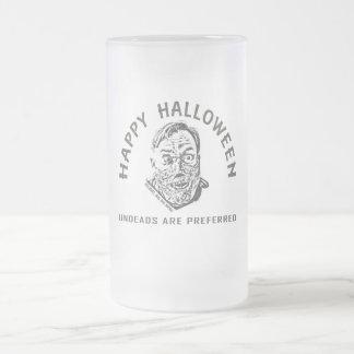 Crazy cadáver ambulante - víspera de todos los san taza de cristal