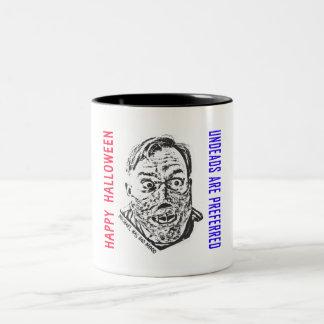 Crazy cadáver ambulante - víspera de todos los san taza de dos tonos