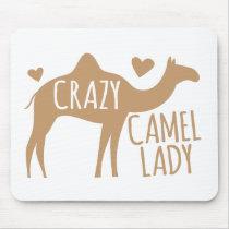 Crazy Camel Lady Mouse Pad
