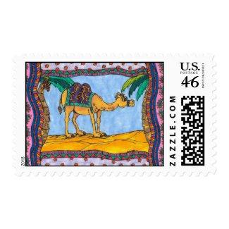 Crazy Camel postage stamp
