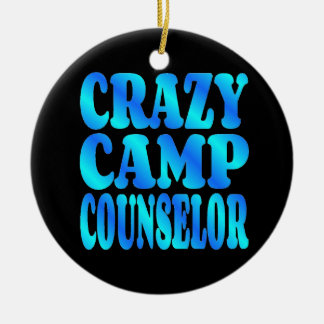 Crazy Camp Counselor Double-Sided Ceramic Round Christmas Ornament