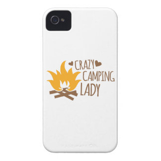Crazy Camping Lady iPhone 4 Case