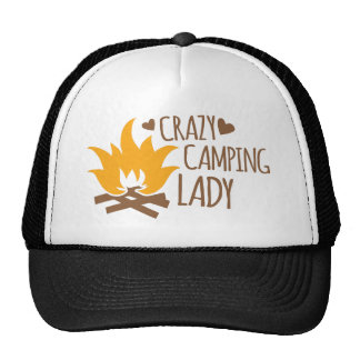 Crazy Camping Lady Trucker Hat