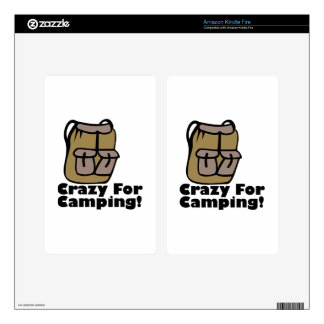Crazy Camping Skin For Kindle Fire