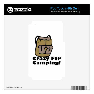 Crazy Camping iPod Touch 4G Decals