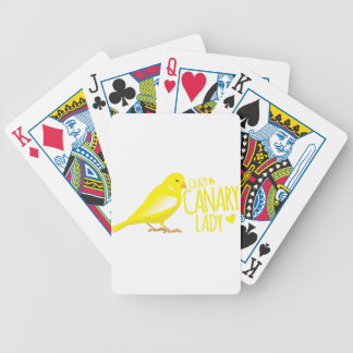 crazy canary lady bicycle playing cards