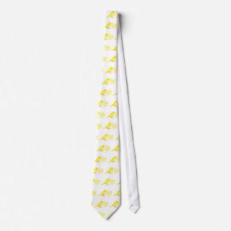 crazy canary lady neck tie