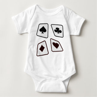 Crazy Cards - Black White & Red Baby Bodysuit