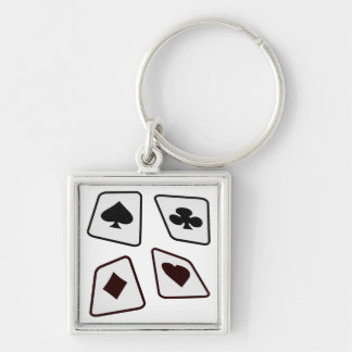 Crazy Cards - Black White & Red Keychain