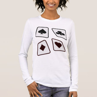 Crazy Cards - Black White & Red Long Sleeve T-Shirt