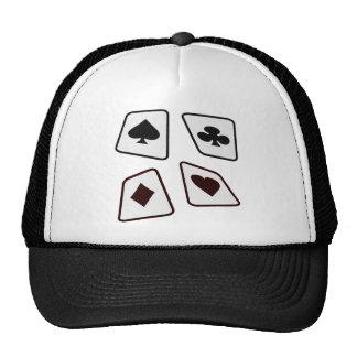 Crazy Cards - Black White & Red Trucker Hat