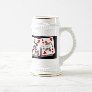 crazy cards poker stein coffee mugs