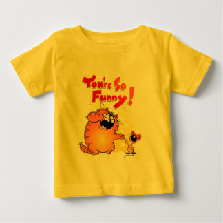 Crazy Cartoon Cat and Mouse | Silly Cartoon Cat Baby T-Shirt