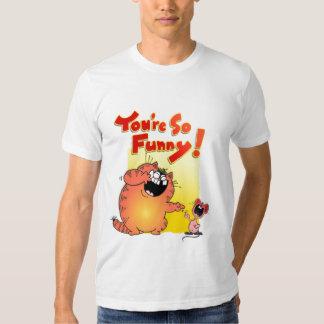 Crazy Cartoon Cat and Mouse   Silly Cartoon Cat Shirt