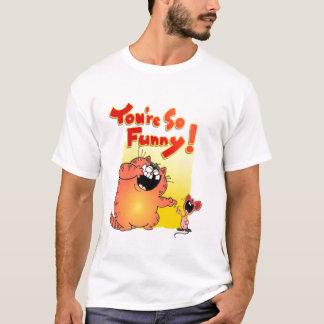 Crazy Cartoon Cat and Mouse | Silly Cartoon Cat T-Shirt