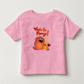 Crazy Cartoon Cat and Mouse | Silly Cartoon Cat Toddler T-shirt