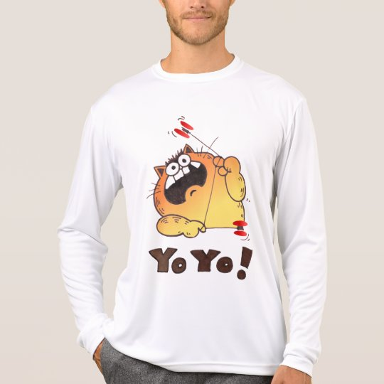 Crazy Cartoon Cat T Shirt | Cartoon Cat Yo-Yo Tee