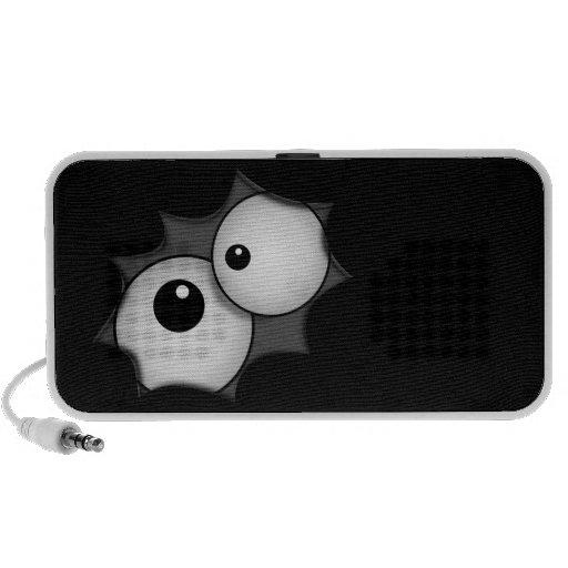 Crazy cartoon eyes travel speakers