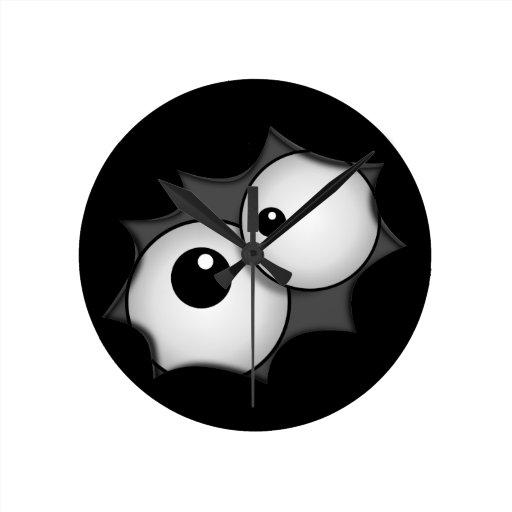 Crazy cartoon eyes wall clock