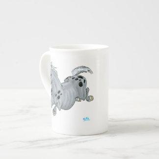 Crazy Cartoon Horse Bone China Mug