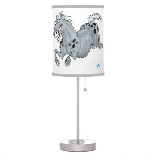 Crazy Cartoon Horse Table Lamp Zazzle