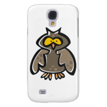 Crazy Cartoon Owl Samsung Galaxy S4 Case