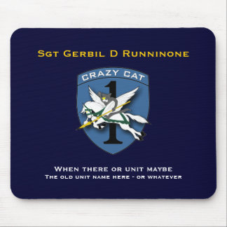 Crazy Cat Aviation 1 Mouse Pad