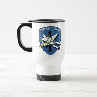 Crazy Cat Aviation 1 Coffee Mugs