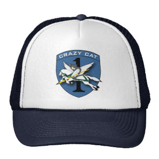 Crazy Cat Aviation 1 Trucker Hat