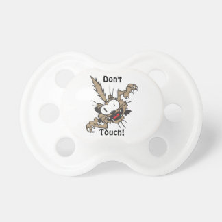 Crazy Cat Don't Touch Funny Pacifier BooginHead Pacifier