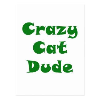 Crazy Cat Dude Postcard
