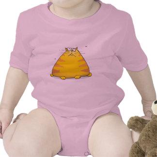 Crazy Cat Funny Pink Baby Girls Creeper Bodysuit