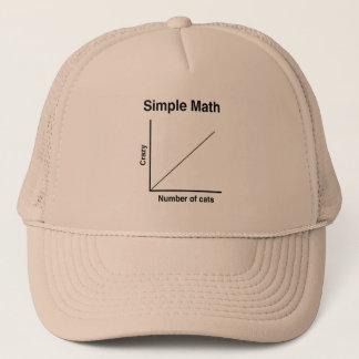 Crazy Cat Graph Trucker Hat