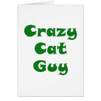 Crazy Cat Guy Card