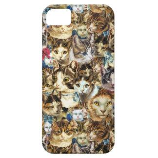 crazy cat heads iPhone case