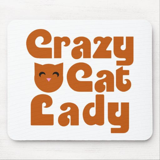 Crazy Cat Lacy Mouse Pad
