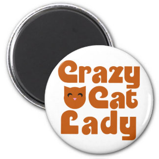Crazy Cat Lacy Refrigerator Magnets