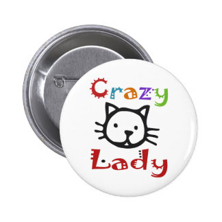 Crazy Cat Lady 2 Inch Round Button