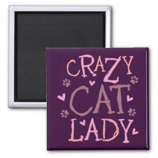 Crazy Cat Lady 2 Inch Square Magnet