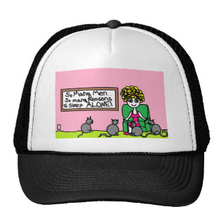 Crazy Cat Lady At Home Trucker Hat