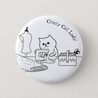 Crazy Cat Lady Badge Pinback Button