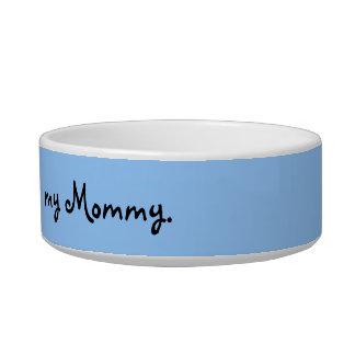 Crazy Cat Lady Bowl--Blue Background Bowl