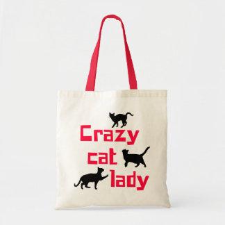 Crazy Cat Lady Budget Tote Bag