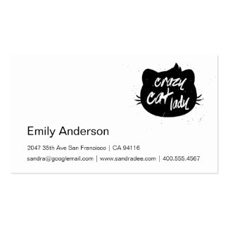 Crazy cat lady business card