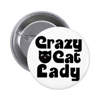 Crazy Cat Lady Button