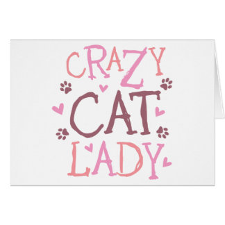 Crazy Cat Lady Greeting Cards