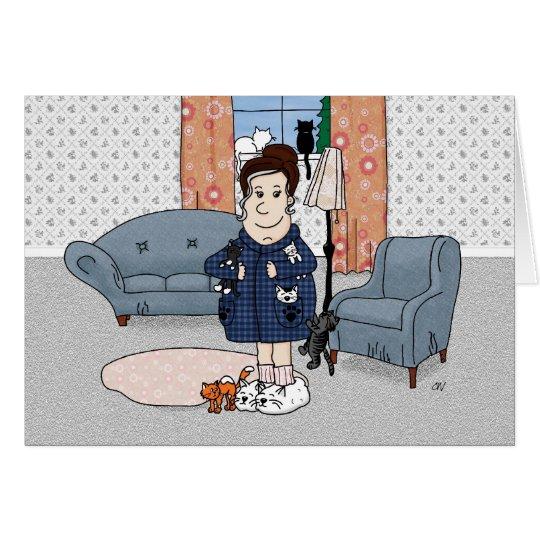 'Crazy Cat Lady' Card